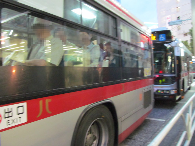帰りの東急バス
