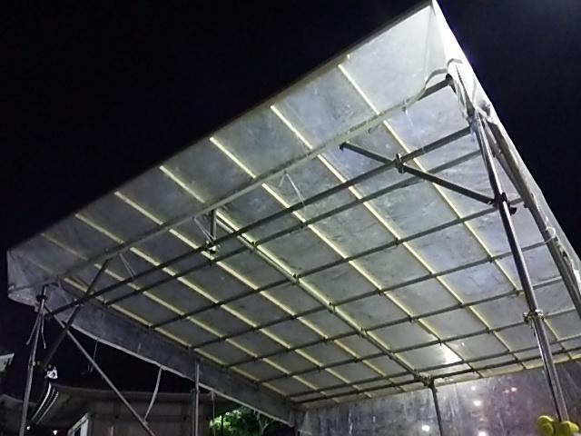 楽市楽座第2ステージの屋根