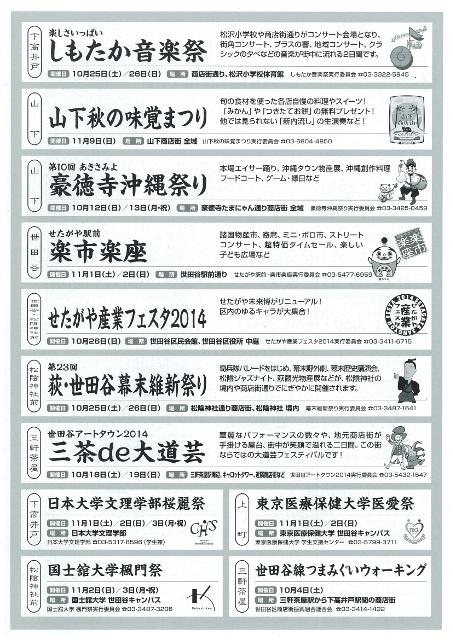 世田谷線沿線イベントチラシウラ20141010