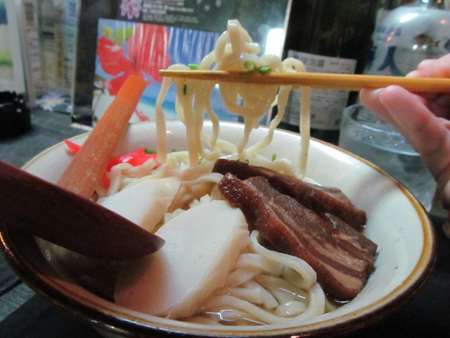摩文仁の沖縄そばの麺