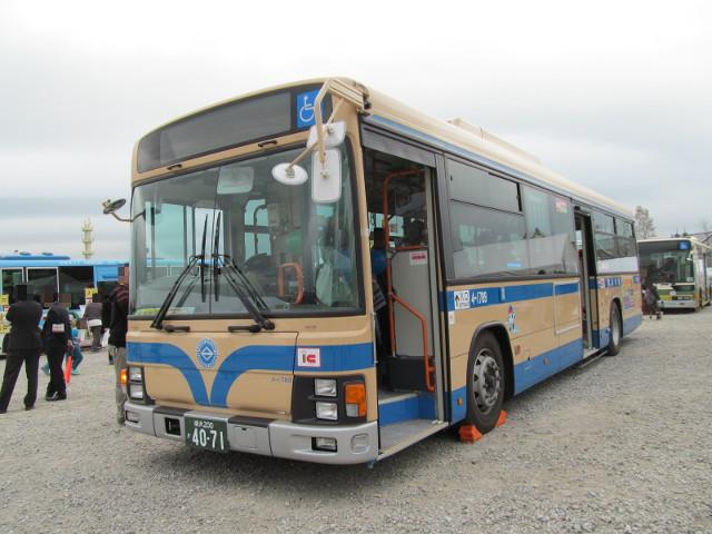 バス利用感謝デー2014横浜市交通局バス左ななめ前