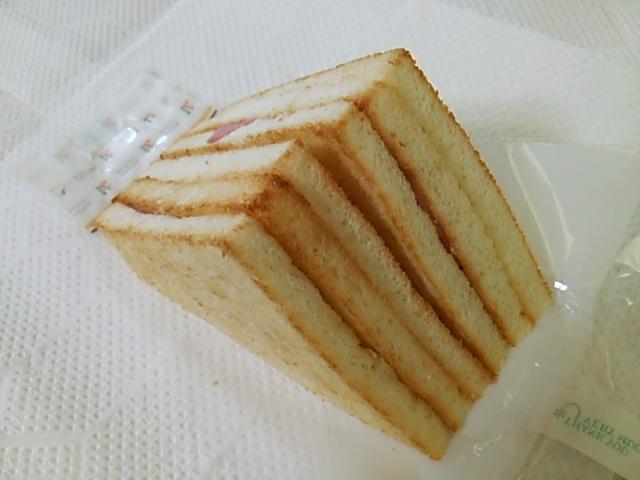 ホットサンドハムチーズのシートを取った底側