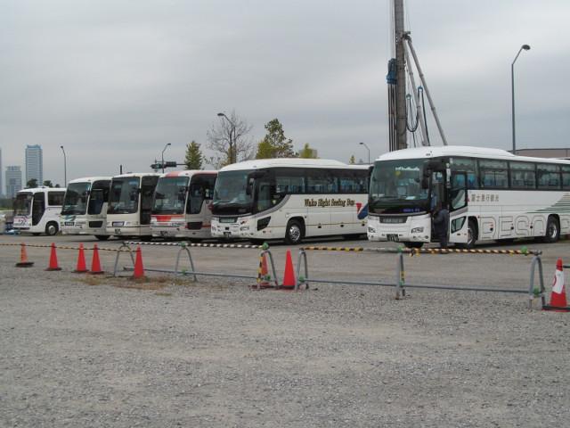 バス利用感謝デー2014各社の観光バスたち