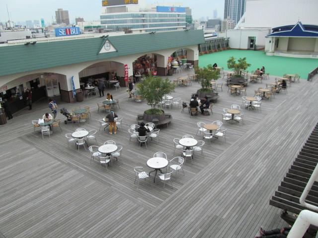 東武百貨店池袋店スカイデッキを上から見る