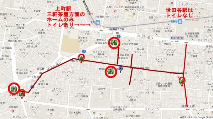 世田谷ボロ市全体図とトイレマップ