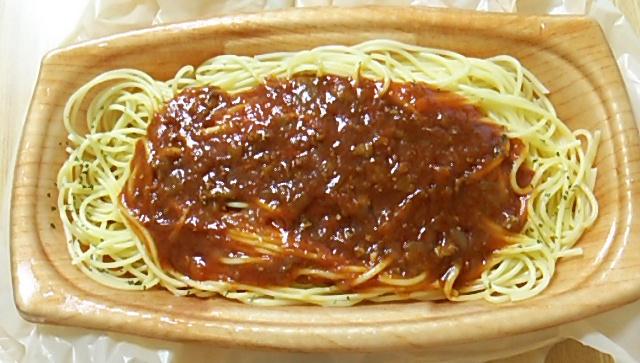 大盛ミートソーススパゲティを開封