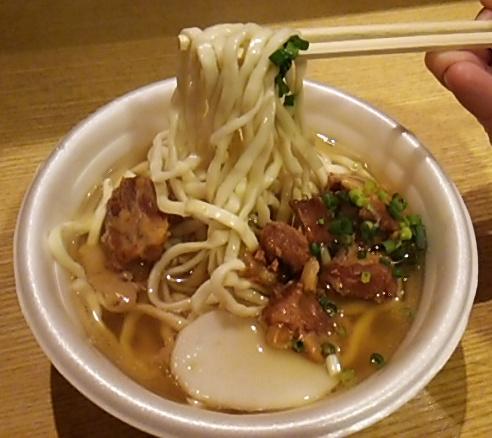 世田谷ボロ市ソーキそばの麺