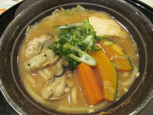 牡蠣味噌ちゃんこ鍋の鍋のアップ