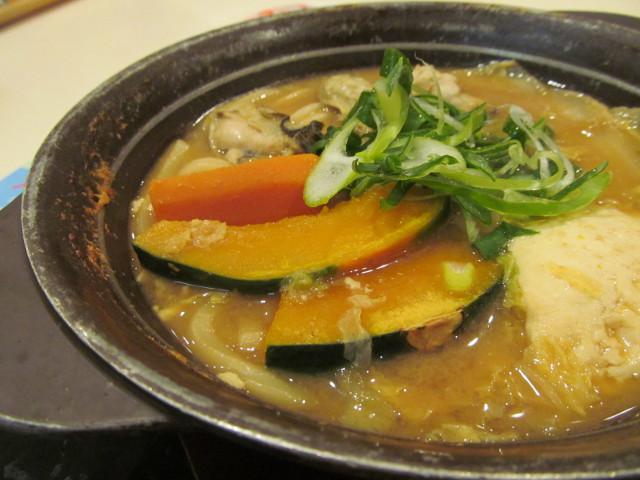 牡蠣味噌ちゃんこ鍋のかぼちゃ