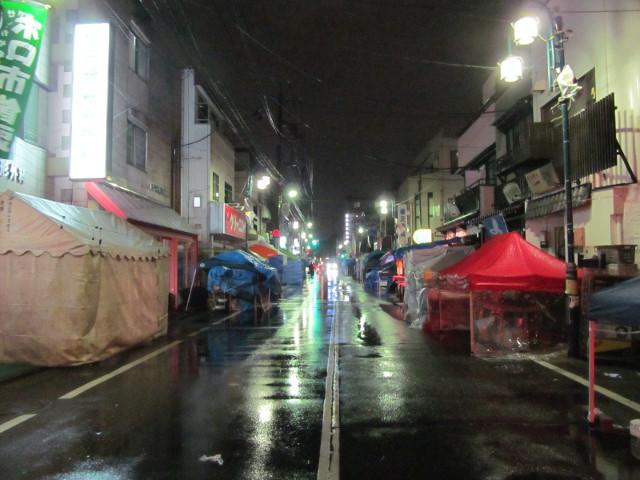 世田谷ボロ市20150115夜9時頃の様子