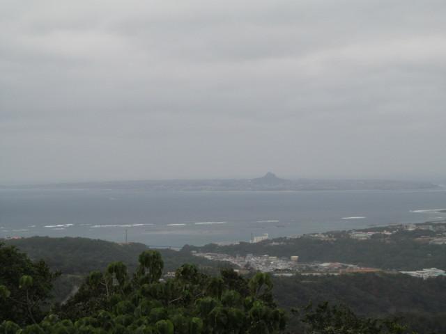 八重岳から見た伊江島