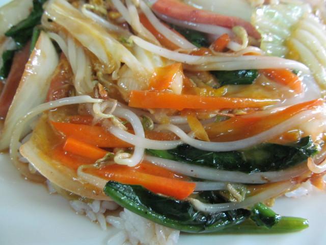 大福チャンポンの野菜たち