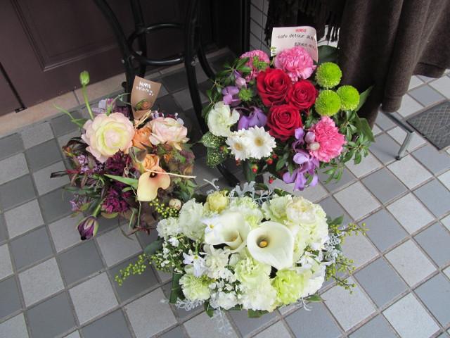 カフェデトアの祝い花3
