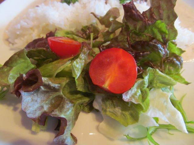 カフェデトアの白いビーフストロガノフのサラダ