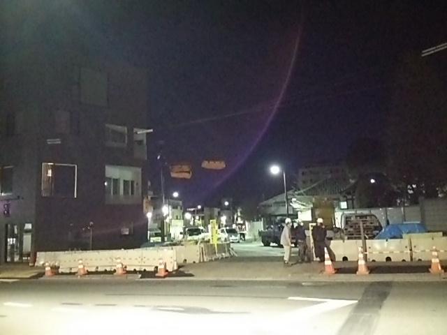 朝3時過ぎの世田谷駅前交差点
