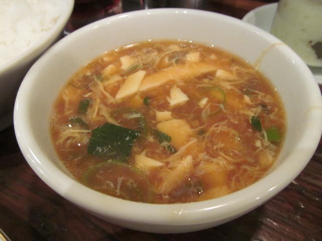 タイガー軒世田谷上町店じゃんじゃん餃子定食のスープ