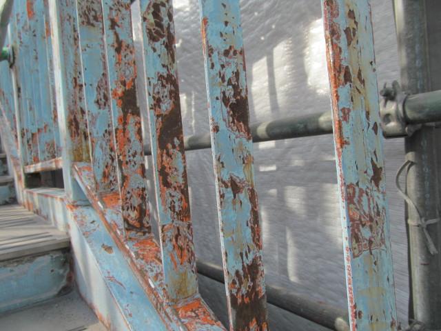 塗装前の歩道橋4