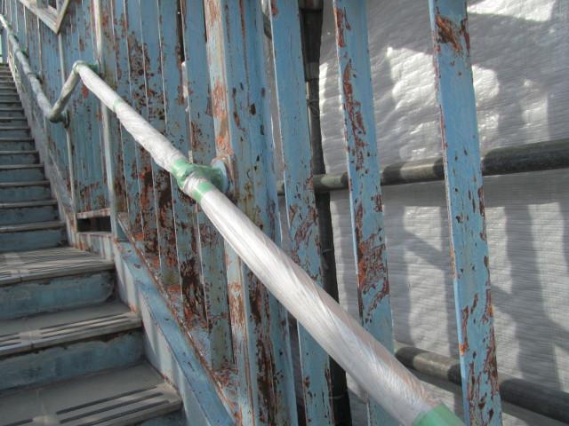 塗装前の歩道橋3