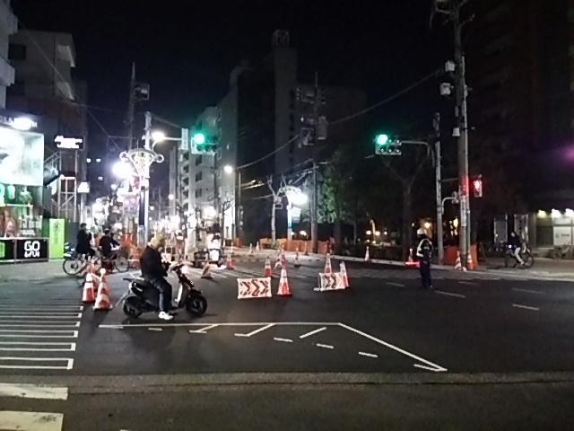 世田谷通り大工事20150203若林交差点