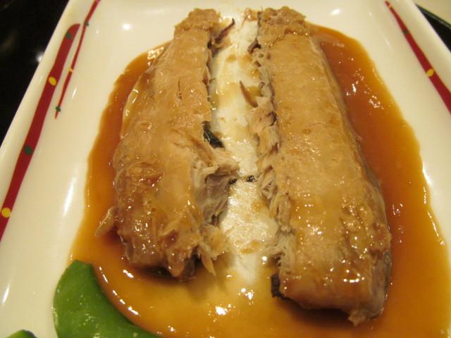 ガストさばの味噌煮和膳のさばを分割2
