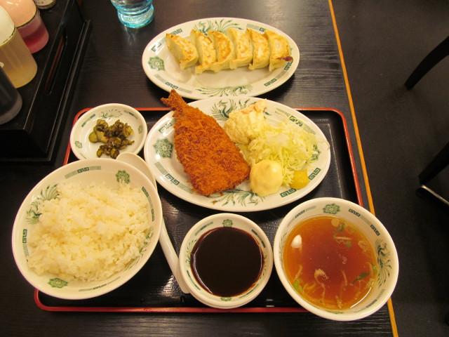 日高屋イワシフライ餃子セット
