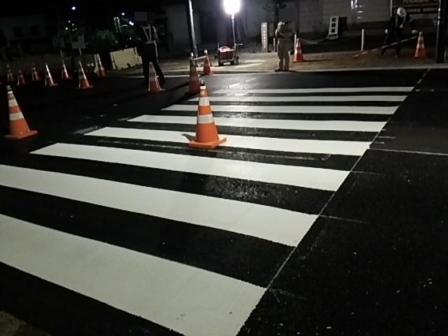 補助154号線世田谷通り右折レーン描く工事8
