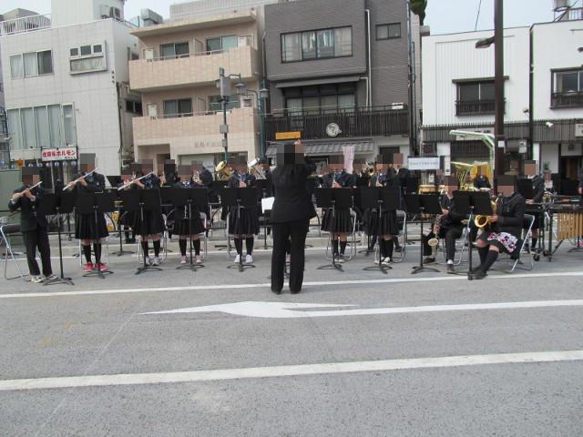 世田谷中学校吹奏楽部合奏中