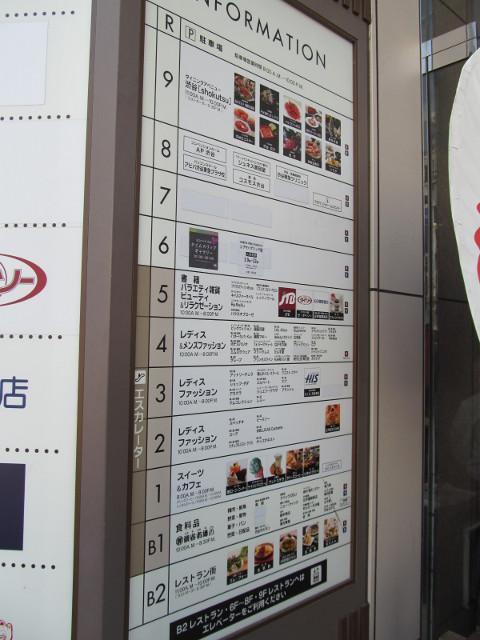東急プラザ渋谷20150317各階INFORMATION