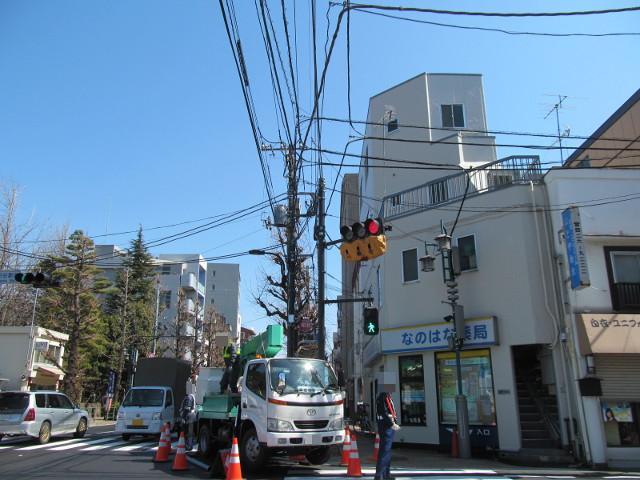 補助154号線開通前日点灯している信号は赤のまま