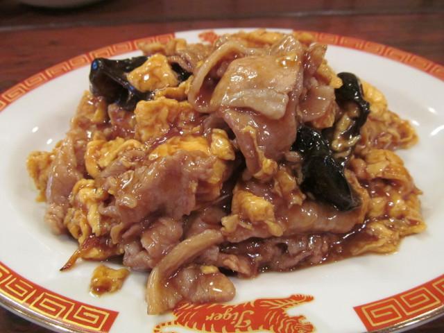 タイガー軒玉子キクラゲ豚炒め定食のアップ1