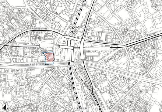 渋谷駅地区道玄坂街区都市計画地