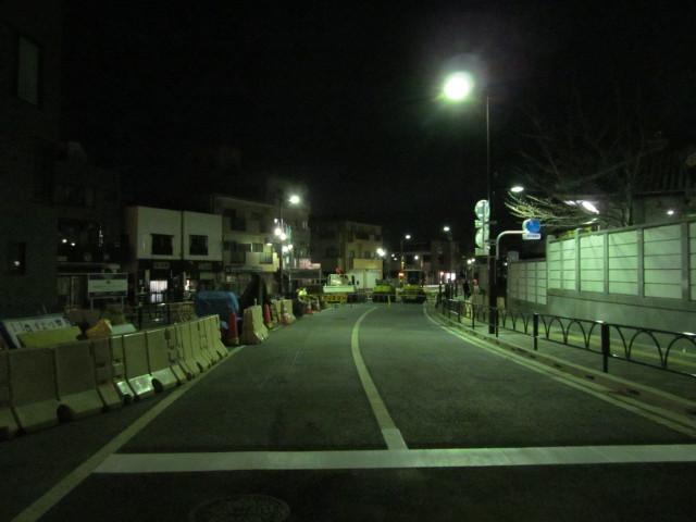 補助154号線起点から世田谷駅方面