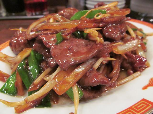 タイガー軒牛レバニラ炒め定食アップ2