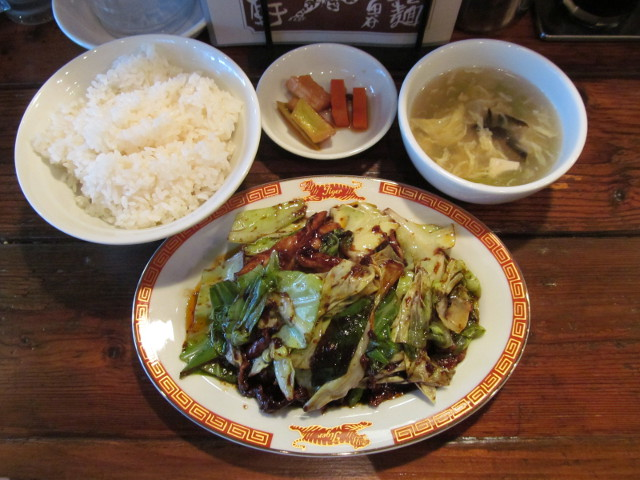 タイガー軒ホイコーロー定食