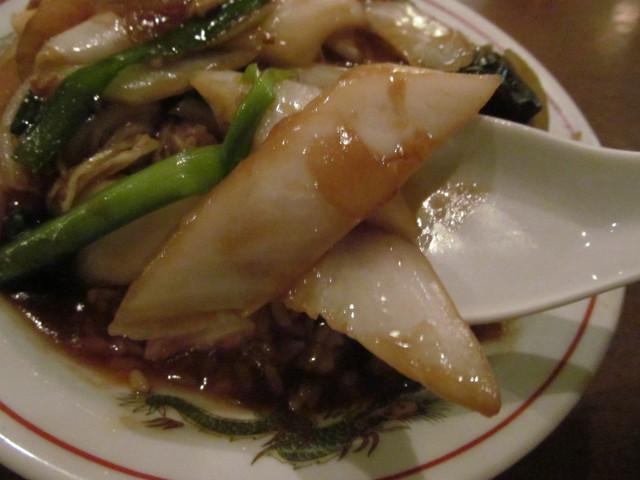 タイガー軒世田谷上町店の豚五目塩かけごはんの白菜