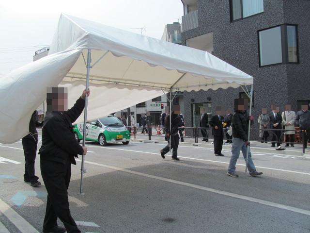 撤去されていくテント2