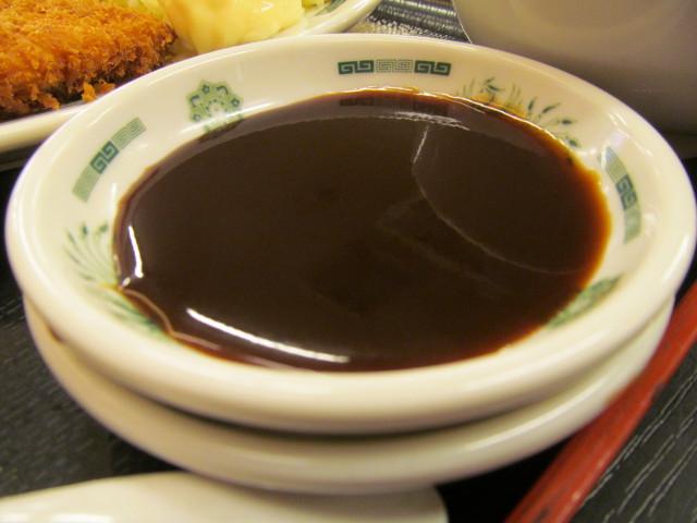 日高屋イワシフライ餃子セットのソース