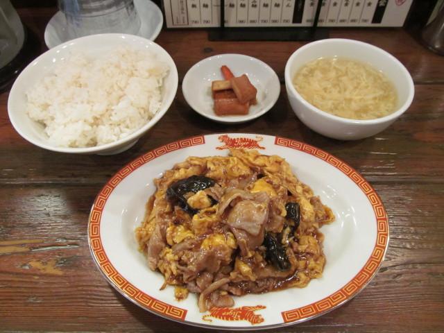 タイガー軒玉子キクラゲ豚炒め定食