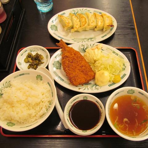 日高屋イワシフライ餃子セットサムネイル3