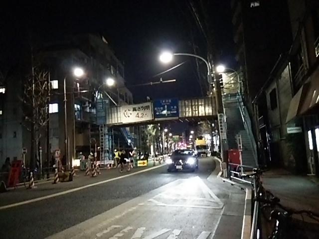 常盤歩道橋を若林三丁目バス停あたりから