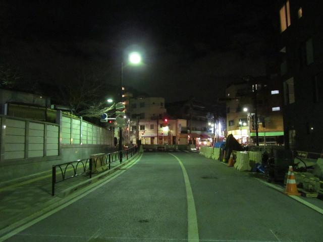 補助154号線円光院前から駒沢公園通り方面