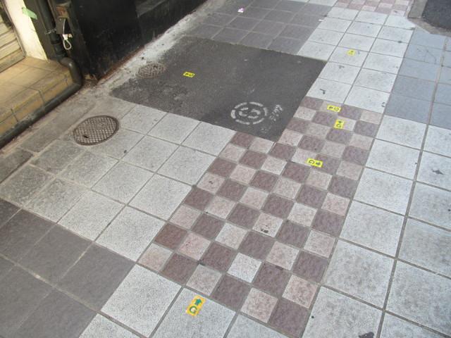 丸鮮渋谷市場入口あたりにはGマークシールがいっぱい