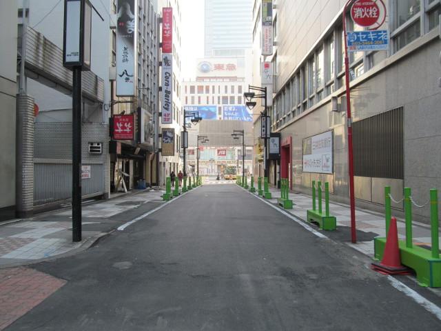誰もいない渋谷中央通り
