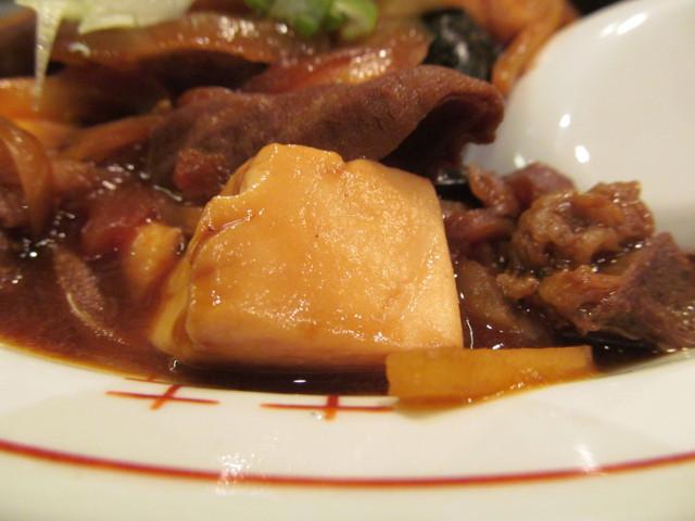 タイガー軒牛すじ豆腐かけごはんの豆腐