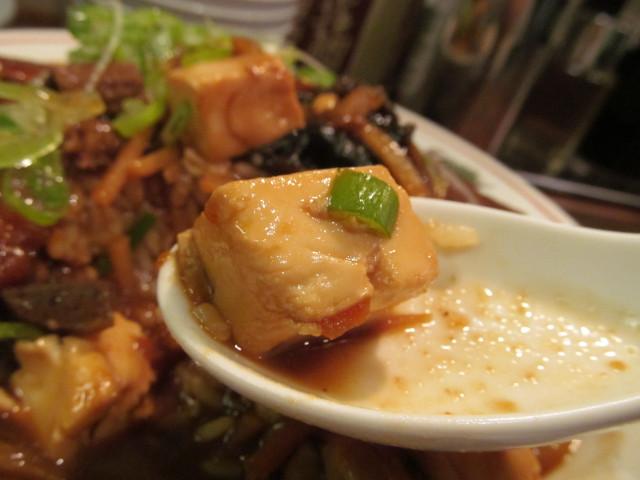 タイガー軒牛すじ豆腐かけごはんの豆腐のアップ