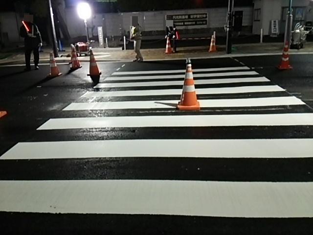 補助154号線世田谷通り右折レーン描く工事9