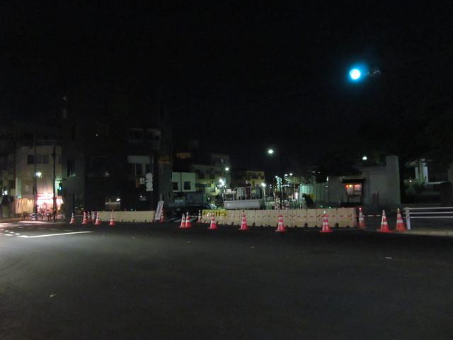 補助154号線開通前夜の世田谷駅前交差点