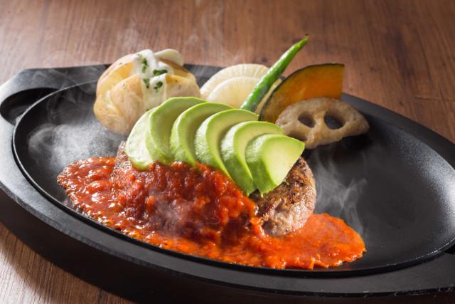 フレッシュアボカドのハンバーグステーキ