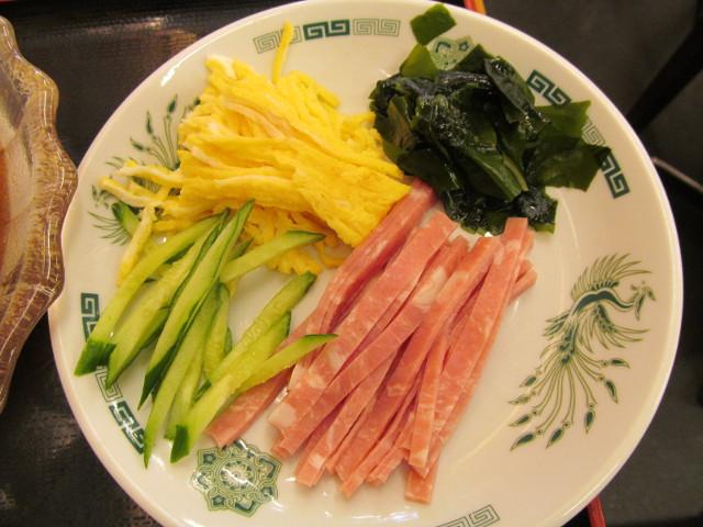 日高屋黒酢しょうゆ冷し麺の具