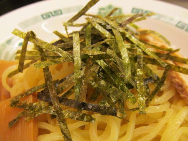 日高屋和風つけ麺の刻み海苔